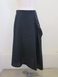 Y's YOHJI YAMAMOTO (ワイズ ヨウジヤマモト),ダブルガーゼツイル薄手斜めフレアスカート:グレー