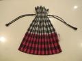 me ISSEY MIYAKE (ミー イッセイミヤケ),ギンガムチェックプリーツ巾着:ピンク