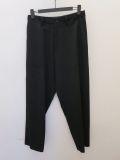 Y's YOHJI YAMAMOTO (ワイズ ヨウジヤマモト),シワギャバ4アウトポケットワークパンツ:ブラック