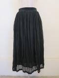 KEI Hayama PLUS(ケイハヤマプリュス),ハイツイストリバーマイヤープリーツ加工ウエストゴムギャザースカート:ブラック