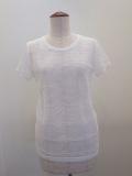 Y's YOHJI YAMAMOTO (ワイズ ヨウジヤマモト),水玉リンクスボータ半袖Tシャツ:ホワイト