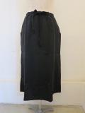 KEI Hayama PLUS(ケイハヤマプリュス),N/C裏毛ウエストゴムセミタイスカート:ブラック