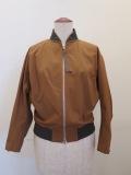 Y's YOHJI YAMAMOTO (ワイズ ヨウジヤマモト),ライトセーヌキャンバスショートブルゾン七分袖:ブラウン