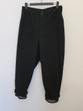 Y's YOHJI YAMAMOTO (ワイズ ヨウジヤマモト),ダライツイル裾別布付きパンツ:ブラック