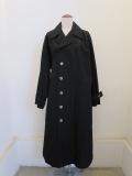 Y's YOHJI YAMAMOTO (ワイズ ヨウジヤマモト),ブラック綿ブロード後ベルトコート:ブラック