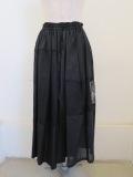 Y's YOHJI YAMAMOTO (ワイズ ヨウジヤマモト),パッチワークギャザースカート:ブラック