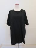 Y's YOHJI YAMAMOTO (ワイズ ヨウジヤマモト),リヨセル天竺アウトポケット付きビッグTシャツ:ブラック