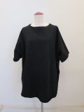 Y's YOHJI YAMAMOTO (ワイズ ヨウジヤマモト),ミニ裏毛ガジェット付き半袖Tシャツ:ブラック