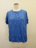 me ISSEY MIYAKE (ミー イッセイミヤケ),メレンゲ半袖Tシャツ:ライトブルー