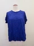 me ISSEY MIYAKE (ミー イッセイミヤケ),メレンゲ半袖Tシャツ:ブルー