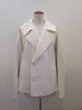 Y's YOHJI YAMAMOTO (ワイズ ヨウジヤマモト),袖二重スプリングコート:ホワイト