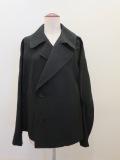 Y's YOHJI YAMAMOTO (ワイズ ヨウジヤマモト),袖二重スプリングコート:ブラック