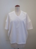 KEI Hayama PLUS(ケイハヤマプリュス),スーピーマ天竺バイオVネック半袖Tシャツ:ホワイト