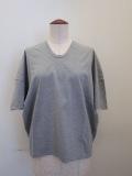 KEI Hayama PLUS(ケイハヤマプリュス),スーピーマ天竺バイオVネック半袖Tシャツ:杢グレー