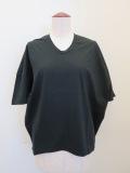 KEI Hayama PLUS(ケイハヤマプリュス),スーピーマ天竺バイオVネック半袖Tシャツ:ブラック