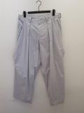 Y's YOHJI YAMAMOTO (ワイズ ヨウジヤマモト),綿麻ウェザー製品染め前ビッグポケット太パンツ:グレー