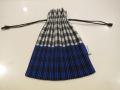 me ISSEY MIYAKE (ミー イッセイミヤケ),ギンガムチェックプリーツ巾着:ブルー