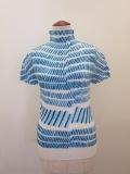 me ISSEY MIYAKE (ミー イッセイミヤケ),ウオーターラインストロークプリーツTシャツ:ライトブルー