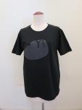 Y's YOHJI YAMAMOTO (ワイズ ヨウジヤマモト),発砲ロゴプリント半袖Tシャツ:ブラック