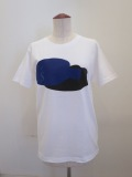 Y's YOHJI YAMAMOTO (ワイズ ヨウジヤマモト),発砲ロゴプリント半袖Tシャツ:ホワイト