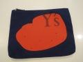 Y's YOHJI YAMAMOTO (ワイズ ヨウジヤマモト),8号頒布Y'sプリントポーチ大:ネイビー