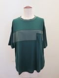 ロジェ(ROSIER),テンセルキュプラローゲージバスト切り替え半袖Tシャツ:フォレストグリーン