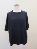 ロジェ(ROSIER),テンセルキュプラローゲージバスト切り替え半袖Tシャツ:ダークネイビー