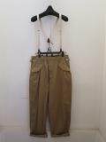 Y's YOHJI YAMAMOTO (ワイズ ヨウジヤマモト),16番ムラ糸ツイルギャザーポケットパンツ:ベージュ