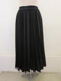 KEI Hayama PLUS(ケイハヤマプリュス),アンタレススエードアコーディオンプリーツスカート:ブラック