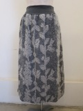 KEI Hayama PLUS(ケイハヤマプリュス),ブークレーフラワージャガードセミタイトスカート:グレー