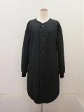Y's YOHJI YAMAMOTO (ワイズ ヨウジヤマモト),タフタ中綿袖リブジャケット:ブラック