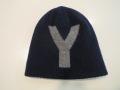 Y's YOHJI YAMAMOTO (ワイズ ヨウジヤマモト),天竺リバーシブルニットキャップ:ネイビー