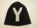 Y's YOHJI YAMAMOTO (ワイズ ヨウジヤマモト),天竺リバーシブルニットキャップ:ブラック