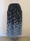 KEI Hayama PLUS(ケイハヤマプリュス),花びらの形ウールパネルジャガードギャザースカート:チャコール