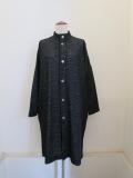 KEI Hayama PLUS(ケイハヤマプリュス),コットンウールガーゼ接結台襟コート:ブラック