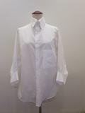 Y's YOHJI YAMAMOTO (ワイズ ヨウジヤマモト),綿ブロードー変形袖シャツ:ホワイト