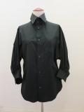 Y's YOHJI YAMAMOTO (ワイズ ヨウジヤマモト),綿ブロードー変形袖シャツ:ブラック