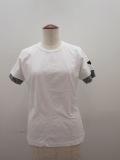 Y's YOHJI YAMAMOTO (ワイズ ヨウジヤマモト),フクレジャガード半袖Tシャツ:ホワイト×チャコール