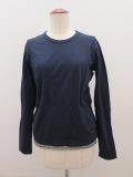 Y's YOHJI YAMAMOTO (ワイズ ヨウジヤマモト),フクレジャガード長袖Tシャツ:ネイビー×チャコール