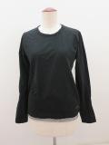 Y's YOHJI YAMAMOTO (ワイズ ヨウジヤマモト),フクレジャガード長袖Tシャツ:ブラック×チャコール