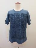 KEI Hayama PLUS(ケイハヤマプリュス),トルファインゴールド天竺半袖Tシャツ:ブルー