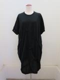 Y's YOHJI YAMAMOTO (ワイズ ヨウジヤマモト),水玉シャーリング丸首半袖ロングTシャツ:ブラック