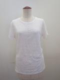 Y's YOHJI YAMAMOTO (ワイズ ヨウジヤマモト),タックレースジャガード丸首半袖Tシャツ:ホワイト