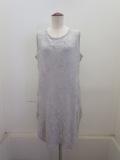 Y's YOHJI YAMAMOTO (ワイズ ヨウジヤマモト),タックレースジャガードロングランニングTシャツ:ライトグレー