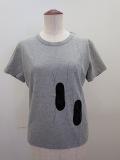 Y's YOHJI YAMAMOTO (ワイズ ヨウジヤマモト),コットン天竺靴紐イラストプリント半袖Tシャツ:グレー