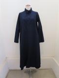 Y's YOHJI YAMAMOTO (ワイズ ヨウジヤマモト),コットンツイルロングシャツドレス:ネイビー