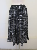 Y's YOHJI YAMAMOTO (ワイズ ヨウジヤマモト),強撚天竺アップルメッセージゴムギャザースカート:ブラック