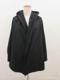 Y's YOHJI YAMAMOTO (ワイズ ヨウジヤマモト),コーマミニ裏毛裁ち出しフードジャケット:ブラック