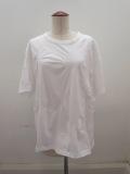 Y's YOHJI YAMAMOTO (ワイズ ヨウジヤマモト),Y'sタックジャガードBタチキリ半袖Tシャツ:オフホワイト