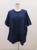 Y's YOHJI YAMAMOTO (ワイズ ヨウジヤマモト),Y'sタックジャガードBタチキリ半袖Tシャツ:ネイビー